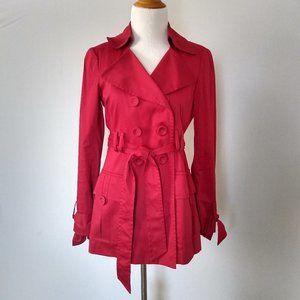 Nanette Lepore Retro Red Trench Coat